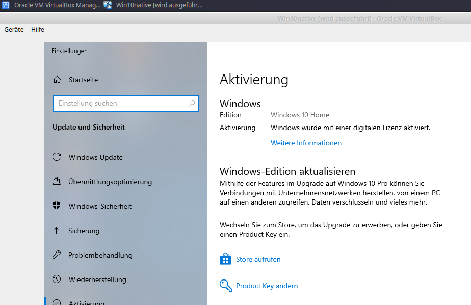 Use native Windows 10 via VirtualBox in Linux | AngInf